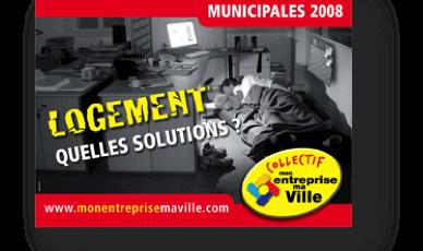 Campagne de communication pendant les municipales 2008 dans le pays d'Aix, à l'initiative du collectif mavillemonentreprise