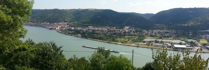 Le Rhône à Saint Valier