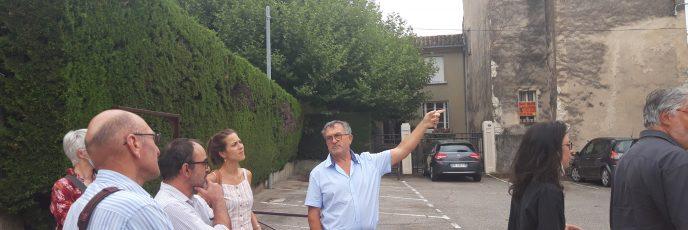 Visite des lieux avec Mr Olivier Pévérelli, maire du Teil
